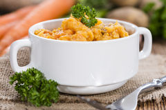 Portion of Carrot Stew Royalty Free Stock Image