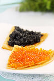 Portion caviar Royalty Free Stock Image