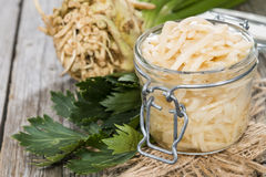 Portion of Celeriac Salad Royalty Free Stock Images