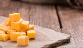 Portion of Cheddar Royalty Free Stock Photo