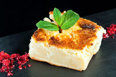 Portion of cheese cake. Stock Photography