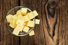 Portion of Cheese (close-up shot) Stock Image