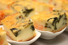 Portion of cheese  quiche lorraine traditional farmhouse Royalty Free Stock Photo
