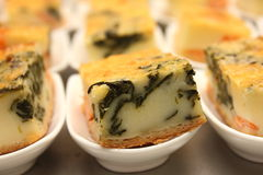 Portion of cheese  quiche lorraine Royalty Free Stock Image