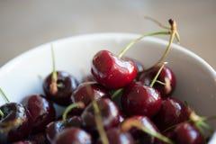 Portion of Cherries. Organic, fresh. Stock Photo