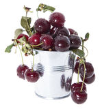 Portion of Cherries on white Royalty Free Stock Photography
