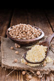 Portion of Chick Pea Flour Stock Images
