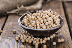 Portion of Chick Peas Stock Photography