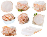 Portion of Chicken Breast Fillet isolated on white Royalty Free Stock Photos