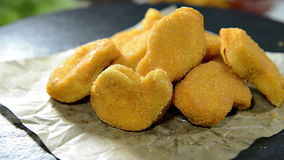 Portion of Chicken Nuggets (not loopable) Royalty Free Stock Image