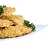 Portion of Chicken Nuggets on white Stock Photo