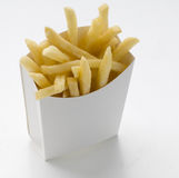 Portion chips. Portion of fast food fries Stock Images