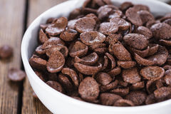 Portion of chocolate cornflakes Stock Photography