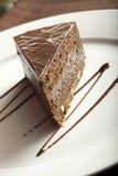 Portion of chocolate and hazelnut cake Stock Photo
