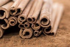 Portion of Cinnamon Royalty Free Stock Photo