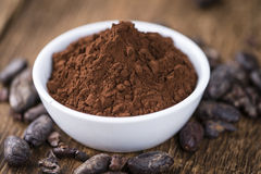 Portion of Cocoa powder Royalty Free Stock Images