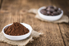 Portion of Cocoa powder Stock Photo