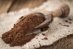 Portion of Cocoa powder Royalty Free Stock Image