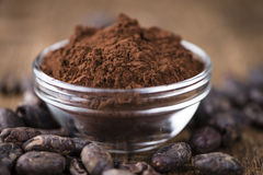 Portion of Cocoa powder Stock Images