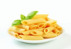 Cooked penne pasta Stock Images