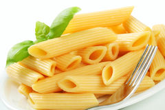 Cooked penne pasta Stock Image