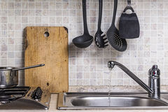 Portion of a cooking floor Stock Photo