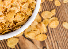 Portion of Cornflakes Stock Photography