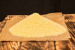 Portion of Cornmeal as detailed close-up shot Stock Image