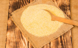 Portion of Cornmeal as detailed close-up shot Stock Photography