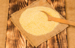 Portion of Cornmeal as detailed close-up shot Stock Images