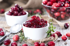 Portion of Cranberry Jam Royalty Free Stock Photos