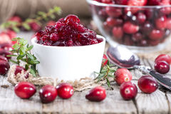 Portion of Cranberry Jam Stock Image