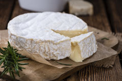 Portion of creamy Camembert Stock Photo