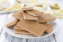 Portion of crispy Vanilla Waffles Stock Image
