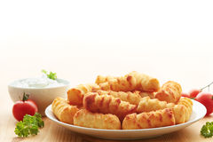 Portion of croquettes Royalty Free Stock Photos
