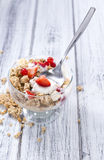 Portion of crunchy Yoghurt Stock Image