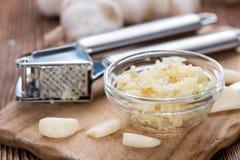 Portion of Crushed Garlic Royalty Free Stock Image