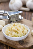 Portion of Crushed Garlic Stock Images
