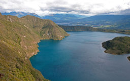 Portion of the Cuicocha lake Stock Images