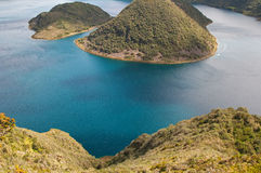 Portion of the Cuicocha lake Royalty Free Stock Images