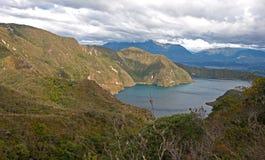 Portion of the Cuicocha lake Stock Photo