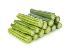 Portion cut moringa on white Stock Photos