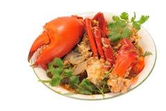 Portion de crabe de /poivron image libre de droits
