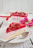 Portion de gâteau de fraise Image libre de droits