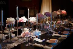 Portion de table de banquet photos libres de droits