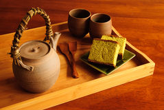 Portion de thé Photo stock