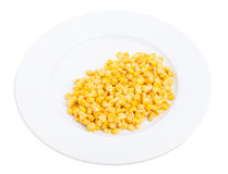 Portion of delicious canned corn. Royalty Free Stock Images