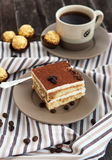 Portion of delicious tiramisu cake Royalty Free Stock Image