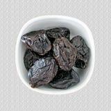 Portion des pruneaux, prunes, laxatif naturel photographie stock libre de droits