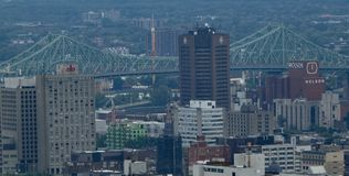 A portion of downtown Montreal royalty free stock image